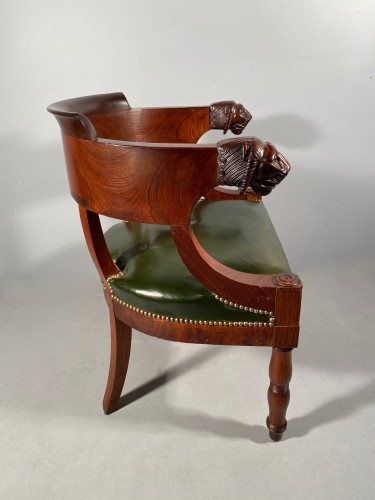 19th century - Mahogany office armchair attributed to Jacob, Empire period