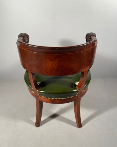 Empire - Mahogany office armchair attributed to Jacob, Empire period