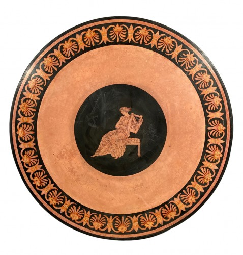 Scagliola plateau in imitation of ancient vases, Italy circa 1800.