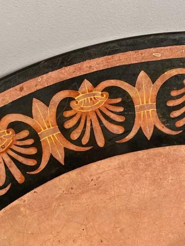 Scagliola plateau in imitation of ancient vases, Italy circa 1800. -