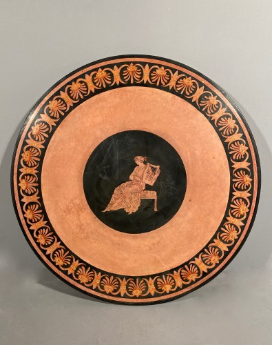 Scagliola plateau in imitation of ancient vases, Italy circa 1800. - Empire