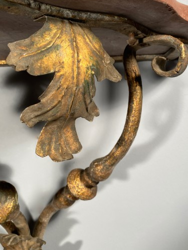 Furniture  - Pair of wrought iron consoles, Provence circa 1700