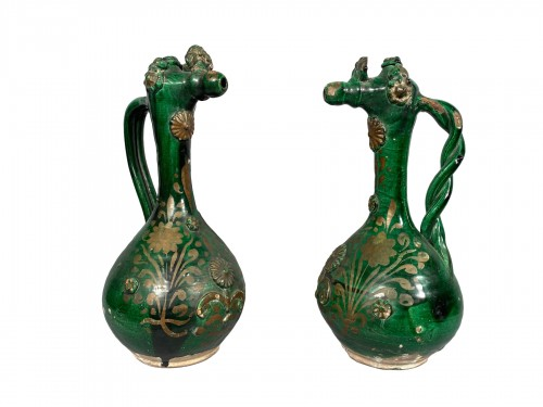 Pair of tall Demoiselle  d'Avignon circa 1840