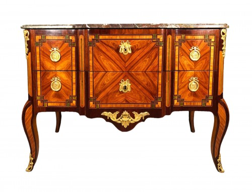 French 18th fine Greek commode, Paric circa 1700