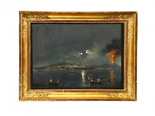 Moonlight over the Bay of Naples, Gouache circa1820