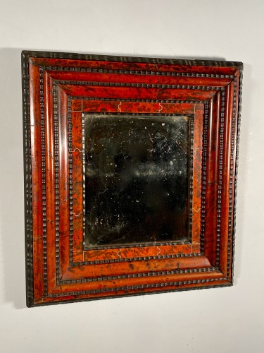 Tortoiseshell, ebony and ivory mirror, Antwerp 17th century - Mirrors, Trumeau Style Louis XIV