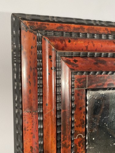 Mirrors, Trumeau  - Tortoiseshell, ebony and ivory mirror, Antwerp 17th century