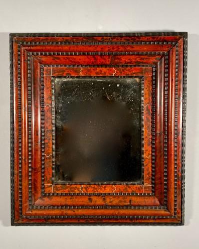 Louis XIV - Tortoiseshell, ebony and ivory mirror, Antwerp 17th century