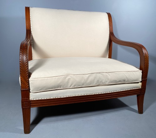 Pair of mahogany sofas by Jacob Desmalter, Paris Empire period - Seating Style Empire