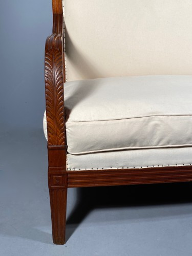 Seating  - Pair of mahogany sofas by Jacob Desmalter, Paris Empire period