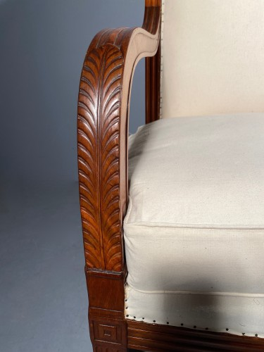 Pair of mahogany sofas by Jacob Desmalter, Paris Empire period - Empire