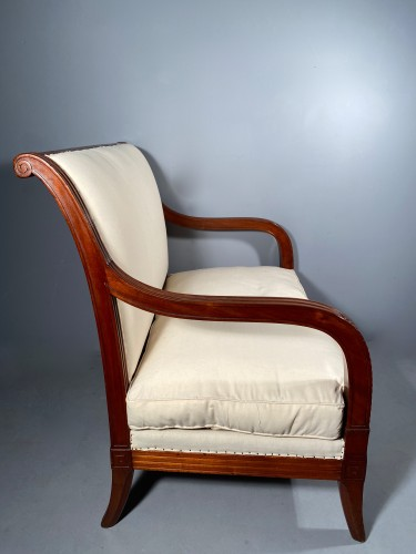 Empire - Pair of mahogany sofas by Jacob Desmalter, Paris Empire period