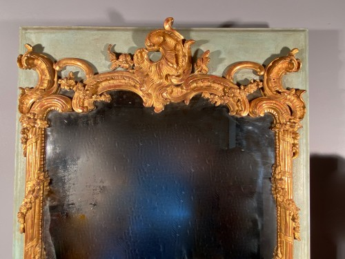 18 th Trumeau in gilded wood, Provence Louis XV period circa 1750 -