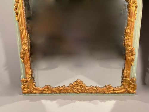 18th century - 18 th Trumeau in gilded wood, Provence Louis XV period circa 1750