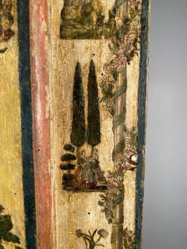 "Small wardrobe in ""Lacca Povera"" the four seasons, Uzès circa 1700 - Louis XIV"