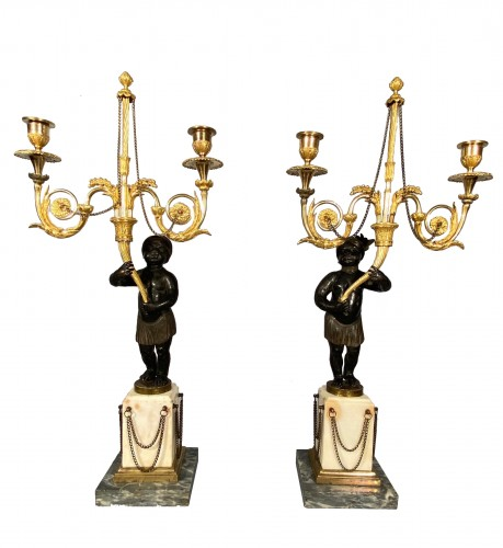 French fine 18th pair of candelabra