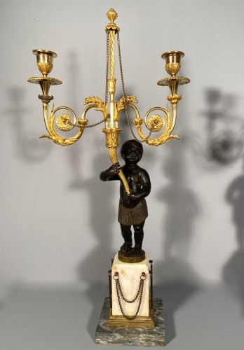 French fine 18th pair of candelabra -