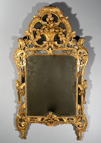 Mirror with gilt wood, Provence Louis XV period - Louis XV