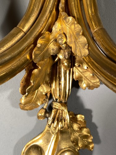 Pair of 18th century hunting horn sconces, attri to Edme-Jean Gallien - Lighting Style Louis XVI