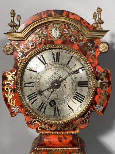 Dolls head clock in Boulle marquetry by Lenoir, Paris, Louis XIV - Clocks Style Louis XIV