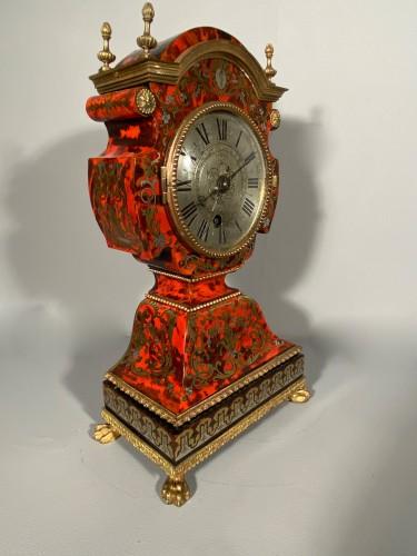 Dolls head clock in Boulle marquetry by Lenoir, Paris, Louis XIV - Louis XIV