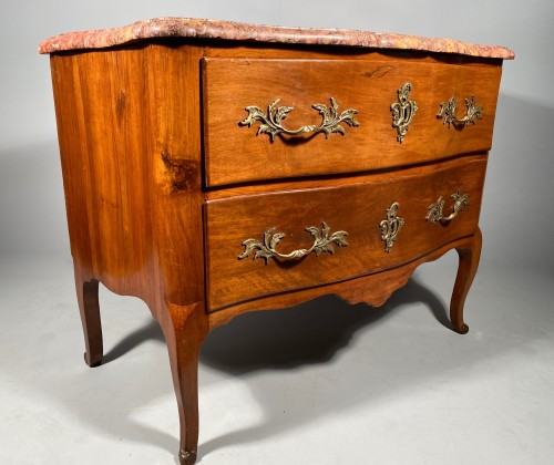 French 18th Walnut commode by Jean François Hache in Grenoble circa 1770 - Furniture Style Louis XV