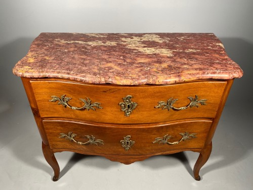 Furniture  - French 18th Walnut commode by Jean François Hache in Grenoble circa 1770