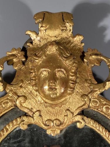 Mirrors, Trumeau  - Gilt wood glazing mirror, Paris Louis XIV period