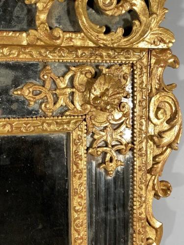 18th century - Gilt wood glazing mirror, Paris Louis XIV period