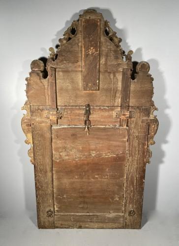 Antiquités - Gilt wood glazing mirror, Paris Louis XIV period