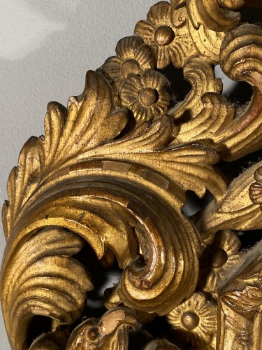 Pair of gilt wood mirrors, Aix en Provence circa 1700 - French Regence