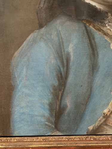 18th century - Portrait of a man with an embroidered waistcoat, Pastel circa 1760
