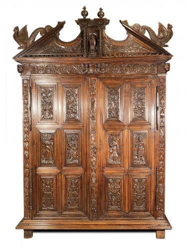 17th Sumène cabinet with four seasons, Languedoc circa 1640