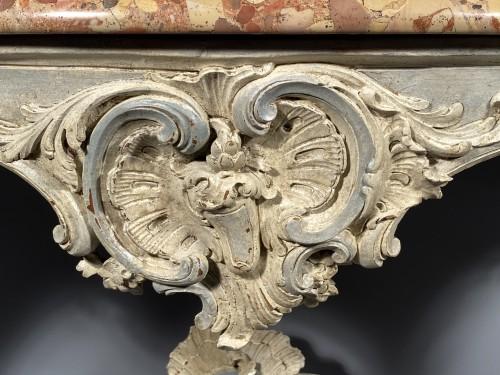 Rocaille console, Jouars-Pontchartrain castle circa 1750 - Furniture Style Louis XV