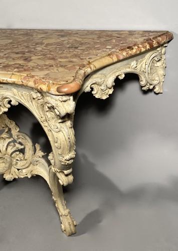 18th century - Rocaille console, Jouars-Pontchartrain castle circa 1750