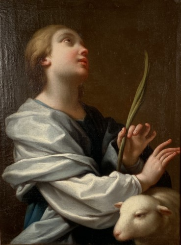 18th century - Sainte Agnès, signed Parrocel and dated 1749