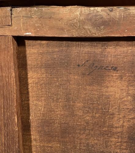 Antiquités - Sainte Agnès, signed Parrocel and dated 1749