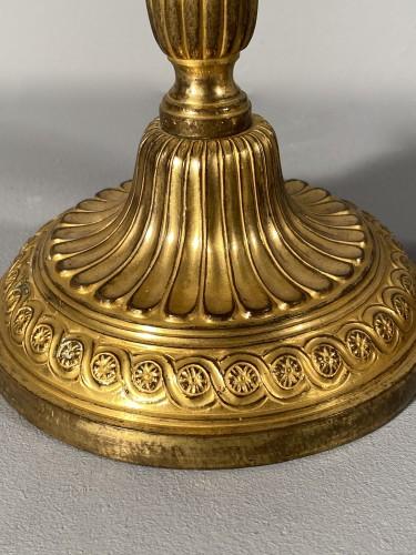 Lighting  - Pair of gilt bronze candlesticks, Paris, Louis XVI