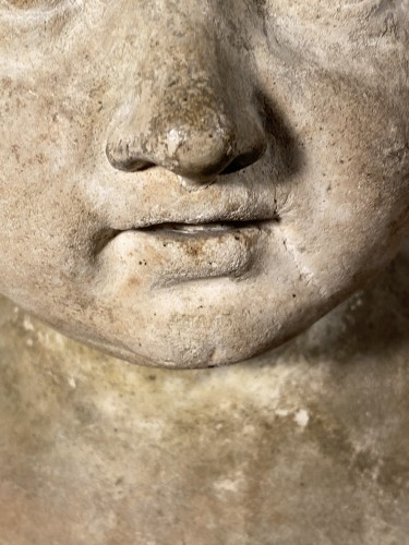 Sculpture  - Plaster bust of a young boy , Workshop of Houdon circa 1790