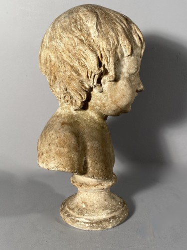 Plaster bust of a young boy , Workshop of Houdon circa 1790 - Louis XVI