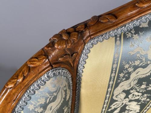 Seating  - Pair of gondola armchairs by JB Boulard, Paris circa 1760