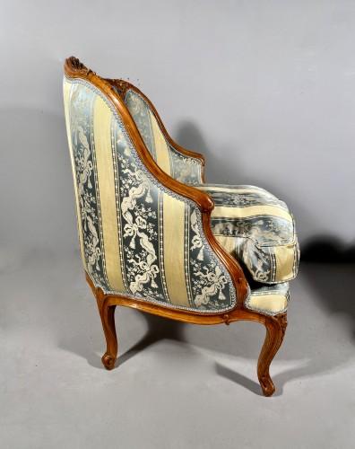 Antiquités - Pair of gondola armchairs by JB Boulard, Paris circa 1760