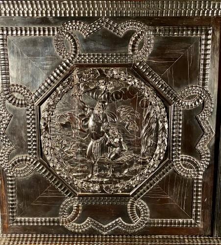 17th century - Ebony cabinet from the genesis scènes, Paris around 1640