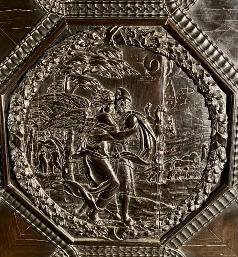 Antiquités - Ebony cabinet from the genesis scènes, Paris around 1640