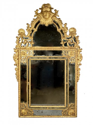 French fine 18th mirror, Paris Louis XIV period