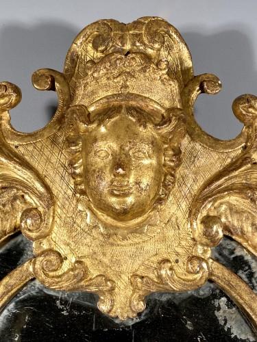 French fine 18th mirror, Paris Louis XIV period -
