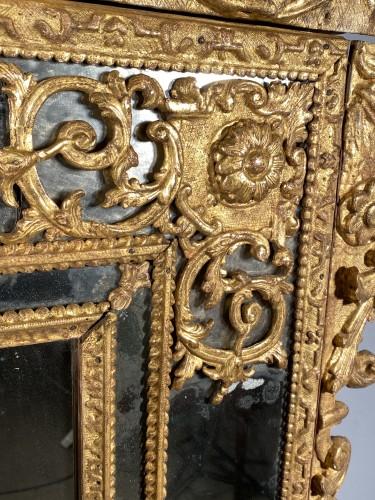French fine 18th mirror, Paris Louis XIV period - Louis XIV