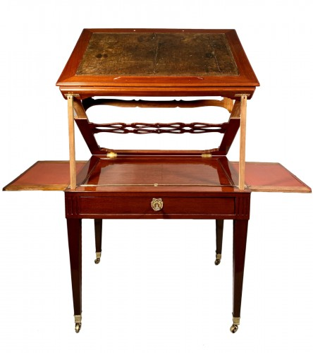 Mahogany architect table by P.Pioniez Paris circa 1780
