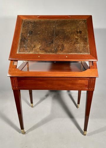 Antiquités - Mahogany architect table by P.Pioniez Paris circa 1780