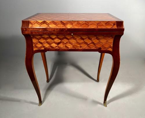 Furniture  - Travel backgammon table by Denizot circa 1770